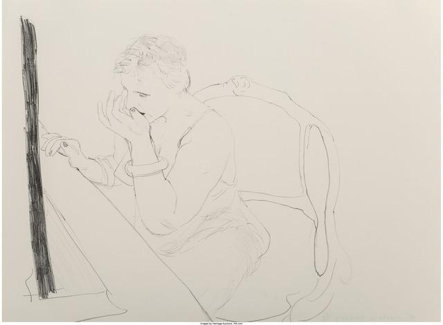 David Hockney, 'Celia -- Adjusting her Eyelash', 1979, Heritage Auctions
