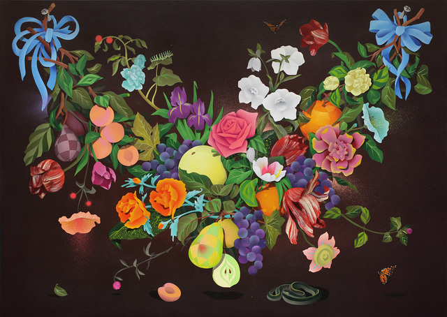 , 'A Swag of Fruits and Flowers 2,' 2016, Hashimoto Contemporary