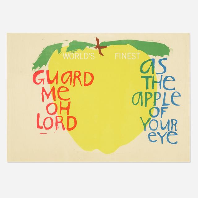 Corita Kent, 'Song with an Apple', 1964, Wright