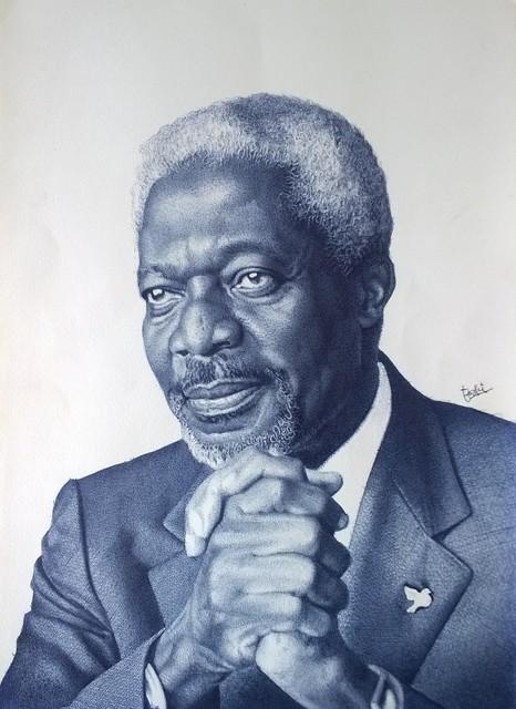 Enam Bosokah, 'Kofi Annan', ca. 2018, TO LIVE IS TO CHOOSE
