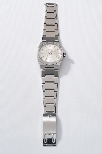 Rolex, 'A rare and attractive stainless steel quartz wristwatch with center seconds, date and bracelet', Circa 1979, Phillips