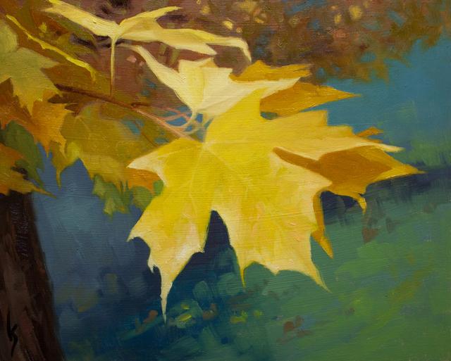 Kirsten Savage, 'Last Leaves', 2015, Painting, Oil, Abend Gallery