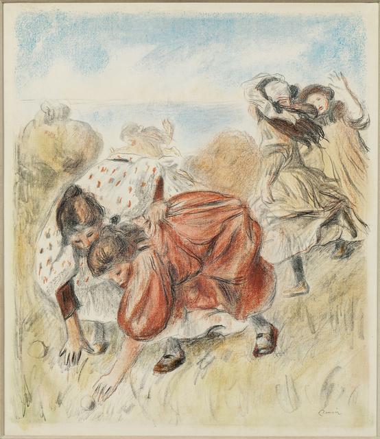 Pierre-Auguste Renoir, 'Enfants jouant à la balle', c. 1900, Print, Color lithograph on heavy laid paper, Skinner