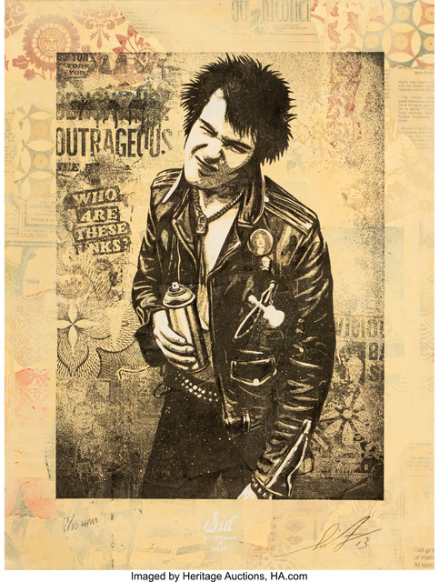 Shepard Fairey (OBEY), 'Sid Spray, from Superman is Dead', 2013, Heritage Auctions
