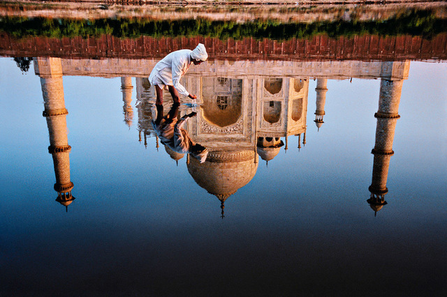, 'Man and Taj Reflection, Agra, Uttar Pradesh, India,' 1999, Cavalier Galleries