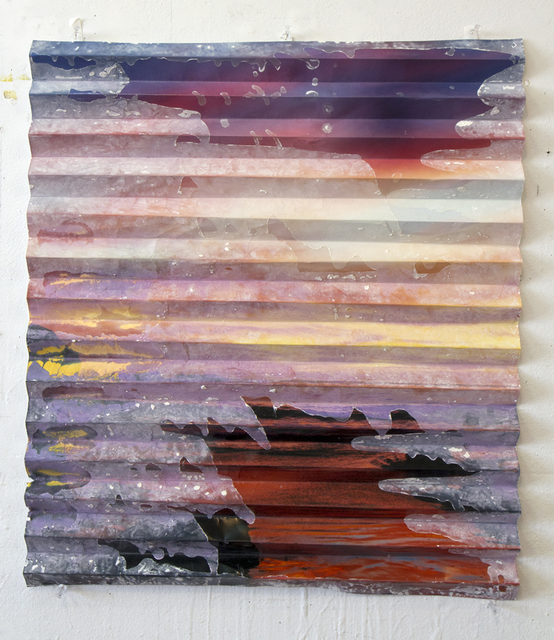 , 'Headlands Sunset Cement Fold (Magenta),' 2014, Galerie Christophe Gaillard