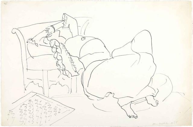 , 'Persane allongée,' 1928, Galeria Marc Domenech