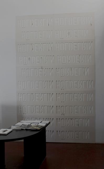 , 'Hölderlin Hölderlin upside down,' 2017, Dvir Gallery