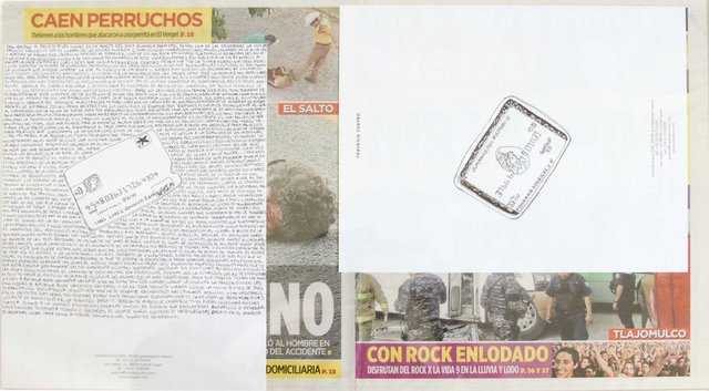 , 'Political Drawing (Metro: Guadalajara, Mexico, Lunes 24 Agosto 2015),' 2015, Travesia Cuatro