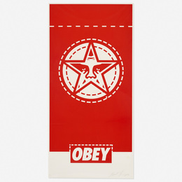 Shepard Fairey, 'Obey Banner,' 2000, Wright: Prints + Multiples (January 2017)
