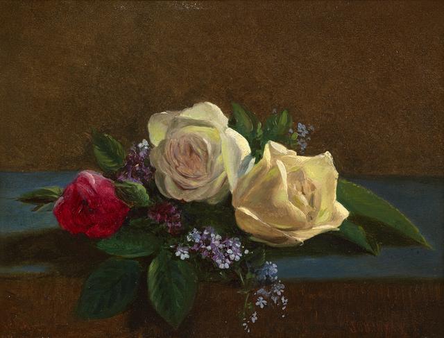 John O'Brien Inman, 'Still Life with Roses', 1866-1878, Debra Force Fine Art