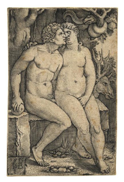 , 'Adam und Eva – Adam and Eve,' 1536, C. G. Boerner