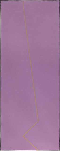 , 'Fondo rosso viola linea gialla ocra,' 1980, Dep Art