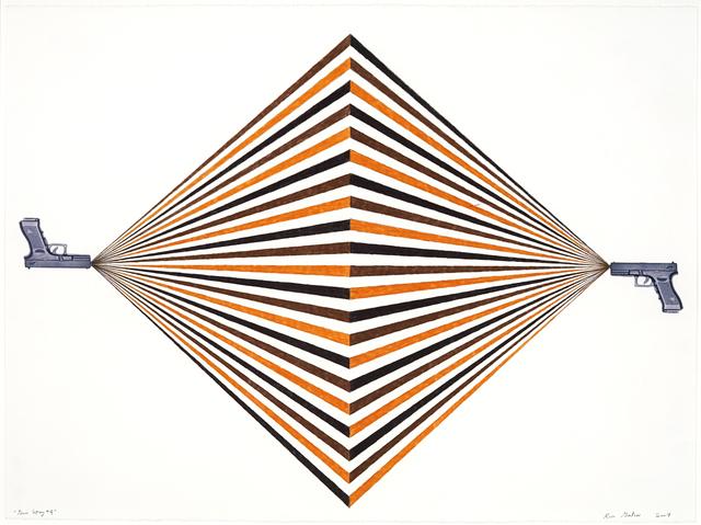 Rico Gatson, 'Gun Spray #4', 2007, Ronald Feldman Gallery