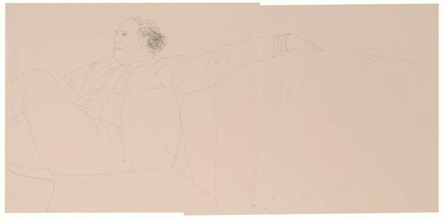 David Hockney, 'Gene Baro (diptych)', 1969, Doyle