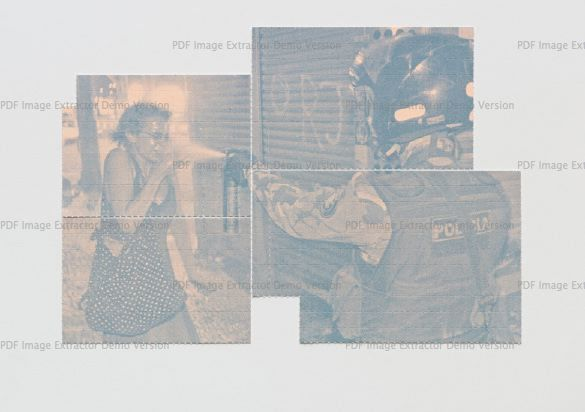 , 'REALIDADE PLACEBO (POLICIAL JOGA SPRAY DE PIMENTA EM MANIFESTANTE NO RIO DE JANEIRO),' 2014, Galería Vermelho