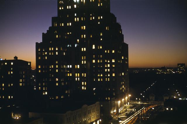 Werner Bischof, 'Building with lights, Chicago, USA', 1953, David Hill Gallery