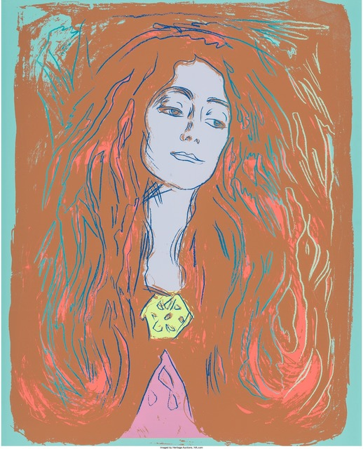 Andy Warhol, 'Eva Mudocci (After Munch)', 1984, Print, Unique screenprint in colors on Lenox Museum Board, Heritage Auctions
