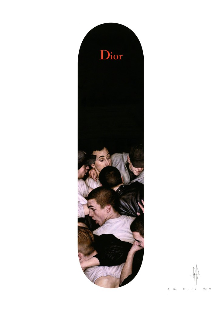Dior Homme x Dan Witz limited edition print. Archival giclée print on Hahnemüehle Museum Etching 350gsm - 100% cotton. Signed, dated & numbered edition of 175. Sized at 70 x 50cm.