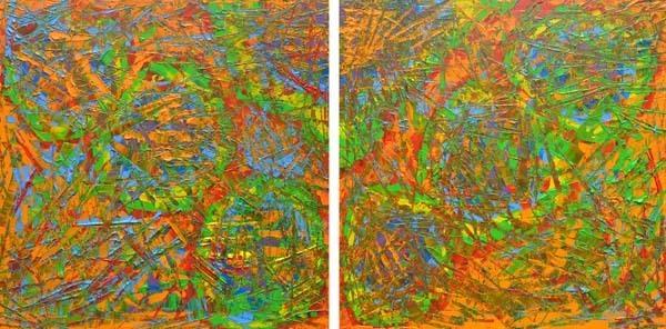 , 'Rain Forest Diptych,' 2015, Bill Lowe Gallery