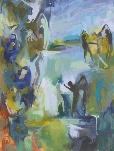 Iwalani Kaluhiokalani, 'Cobalt And Copper Transaction', 2020, Painting, Oil on canvas, Galatea Fine Art