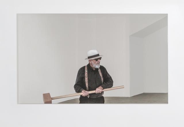 , 'Rottura dello specchio – azione 2,' 2017, GALLERIA CONTINUA