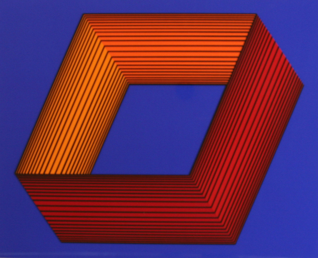 , 'Inner Orange on Blue,' 1991, David Richard Gallery