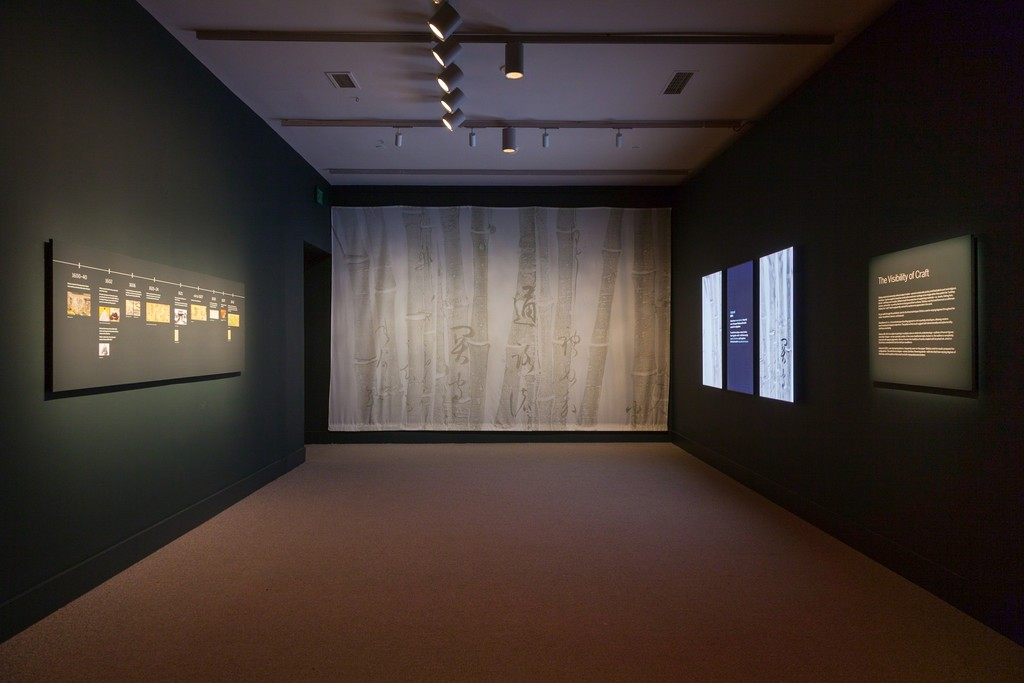 "Gallery view, ""Sōtatsu: Making Waves,"" Arthur M. Sackler Gallery, Smithsonian. Photo by Neil Greentree."