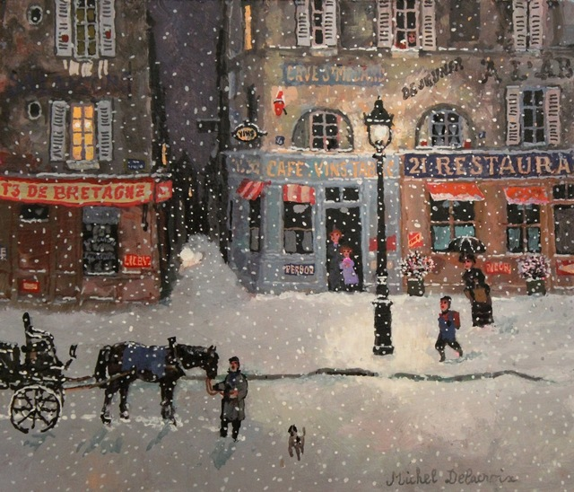 , 'Rue de Bretagne, soir de neige,' , Hugo Galerie