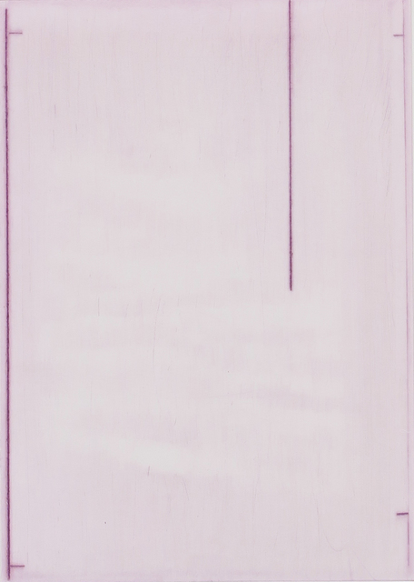 , 'Summer Book pink drypoint,' 2016, Niels Borch Jensen Gallery and Editions