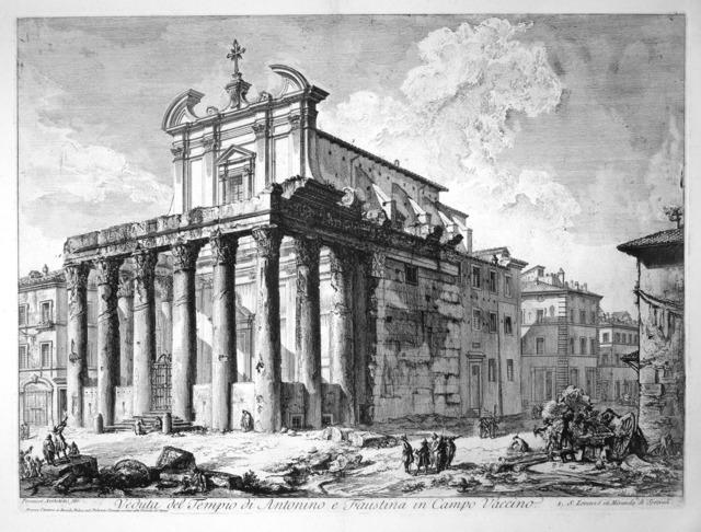 , 'Veduta del Tempio di Antonio e Faustina,' 1758, R. S. Johnson Fine Art