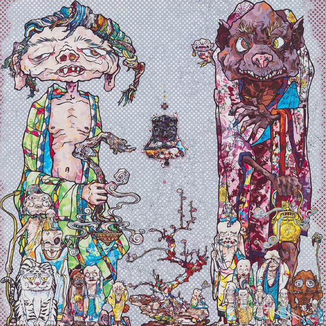 Takashi Murakami, 'Behold! Tis the Netherworld.', 2015, Print, Offset print with silver, STPI