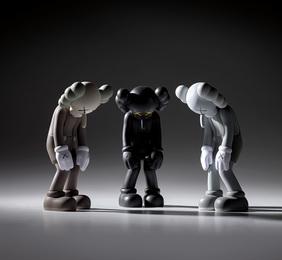 Three works: (i) Small Lie (Brown); (ii) Small Lie (Black); (iii) Small Lie (Grey)
