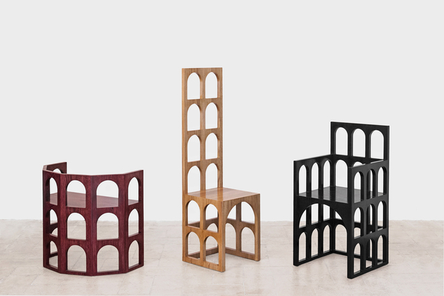 , 'Roma, Pisa and Venezia chairs,' 2016, Giustini/Stagetti Galleria O. Roma