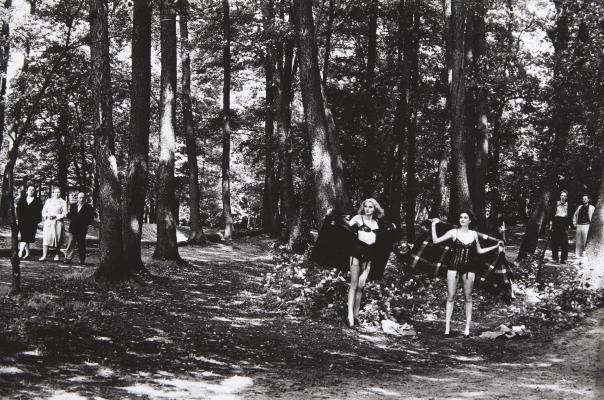 Helmut Newton, 'In the Grunewald, Berlin,' 1979, Addison/Ripley Fine Art
