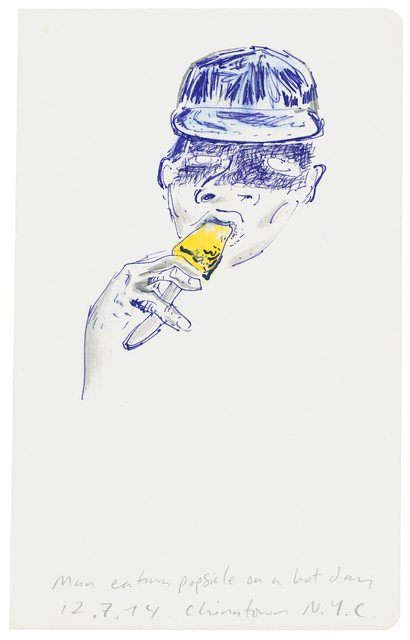 , 'Man Eating Popsicle On A Hot Day,' 2014, Deborah Schamoni