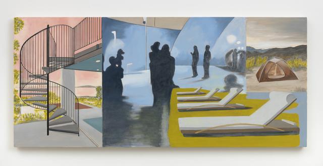 , 'Spiral, Figures, Lounges, Tent,' 2020, Marc Selwyn Fine Art