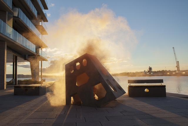 Isabelle & Alexis, 'Oslo - Orange smoke bomb in Oslo sculpture', 2014, B Lounge Art