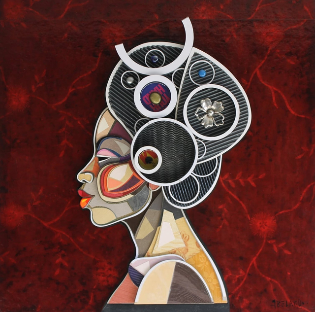 Abelardo Hernandez, 'African Profile', 2015, Painting, Mixed Media, Art Supermarket