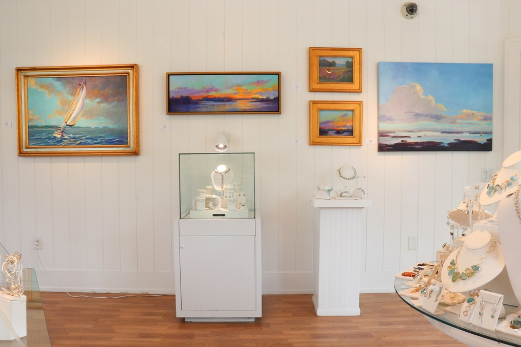 Featured paintings by Linda Richichi left to right: