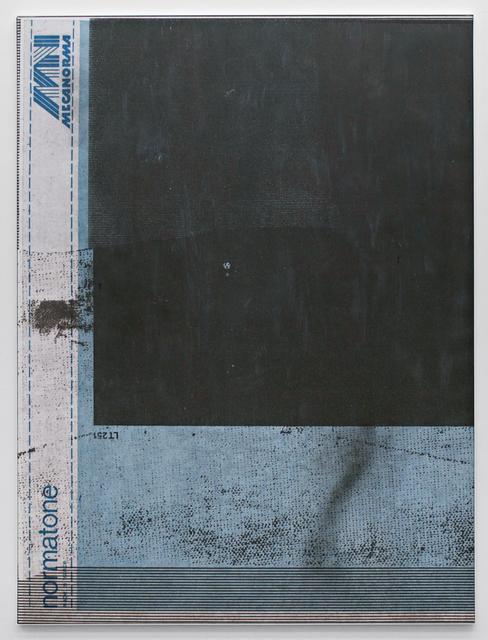 , 'E.H.D (Mecanorma, blue #04),' 2015, Johannes Vogt Gallery