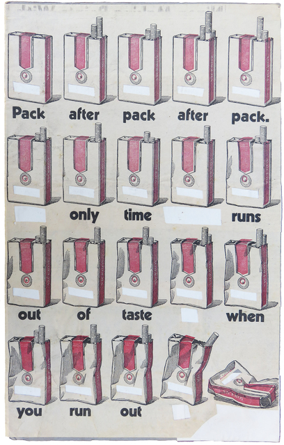 , 'Pack after pack only time runs out,' 1971, Baró Galeria