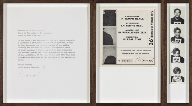 , 'Exhibition in real time n.4 Leave on the walls a photographic trace of your fleeting visit,' 1972, P420