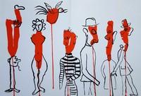 Alexander Calder, Derrière le Miroir No. 156 (Circus 3 - Les Gueules Degoulinantes)