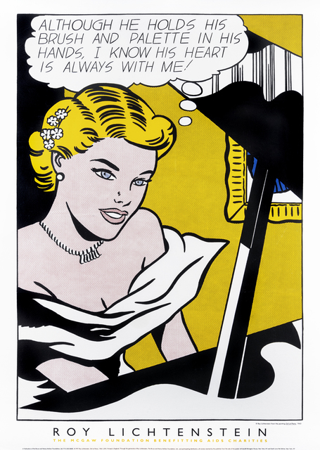 Roy Lichtenstein, 'Girl At Piano - 1963', 1997, Print, Silk screen in colours on wove paper, Tate Ward Auctions
