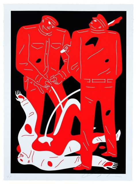 Cleon Peterson, 'Pissers (Black)', 2018, Saguaro Gallery