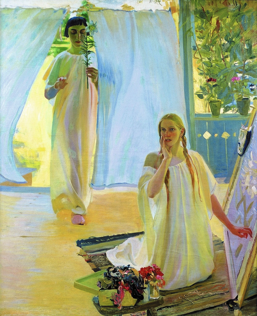Oleksandr Murashko, 'The Annunciation', 1907-1908, Painting, Oil on canvas, National Art Museum of Ukraine