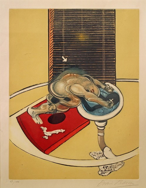 , 'Figure at a wash-basin,' 1976, Connaught Brown
