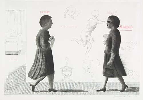 David Hockney, 'Homage to Michelangelo', 1975, Vanessa Villegas Art Advisory