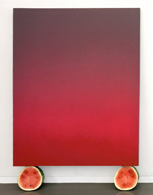 , 'Untitled (Pink and Grey Tonalist with Watermelons),' 2017, Ethan Cohen New York